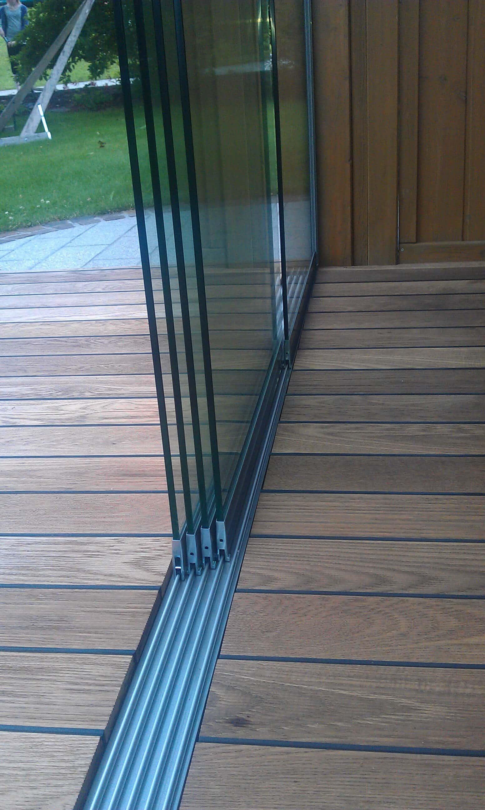5teilige Glasschiebesystem Sunflex