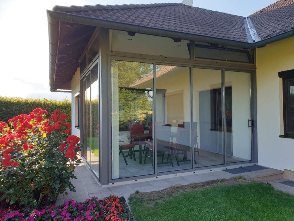 Alu Schiebefenster für Terrasse