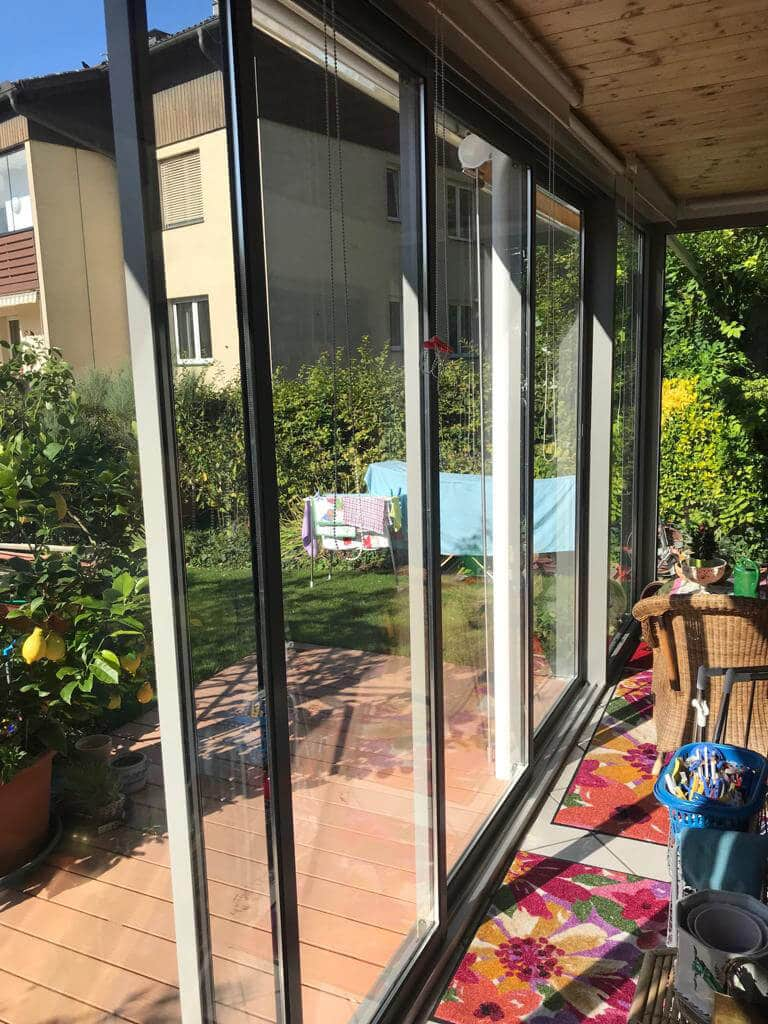 Alu Schiebetüren Terrassenverglasung