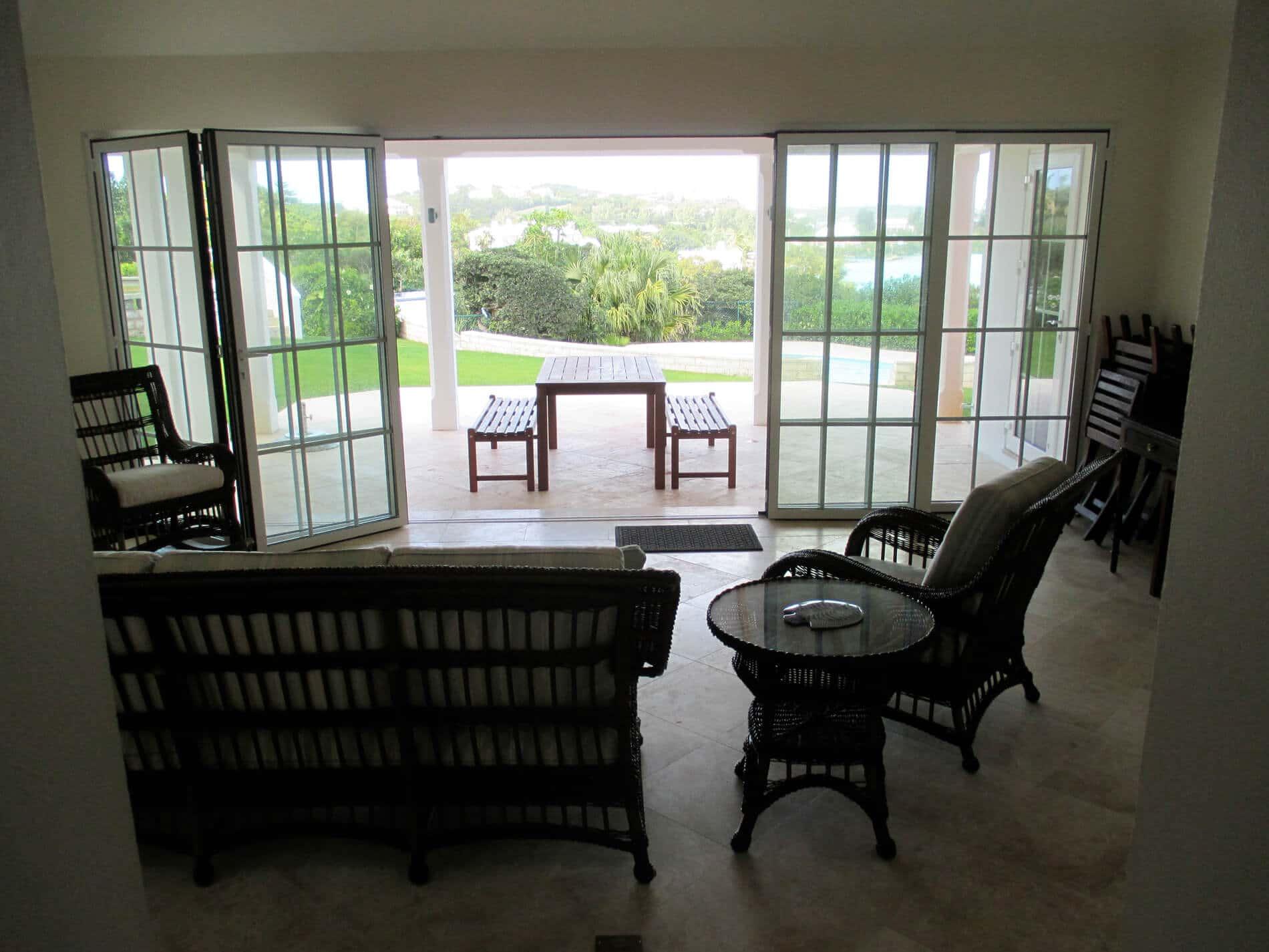 Aluminium-Faltsysteme für Terrasse mit Sprossen