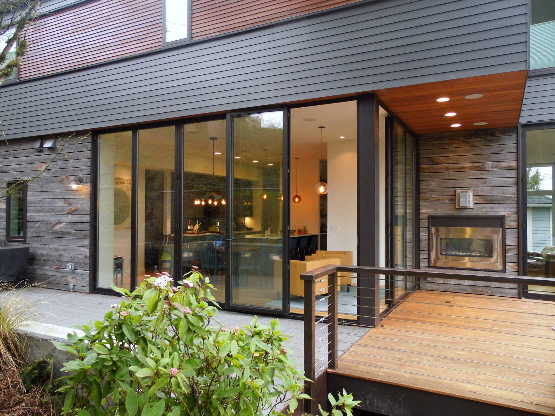 Aluminium-Faltwände nach Maß für Einfamilienhaus