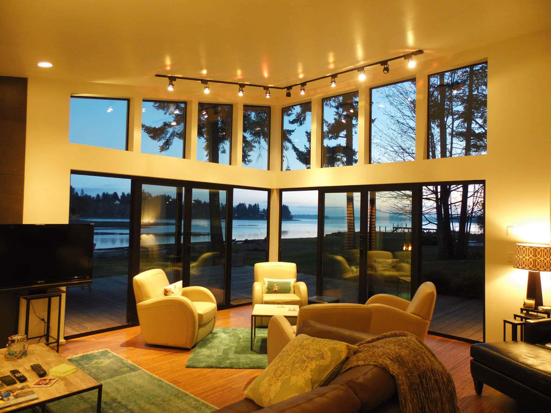 Aluminium Faltwand für Terrasse Innenansicht