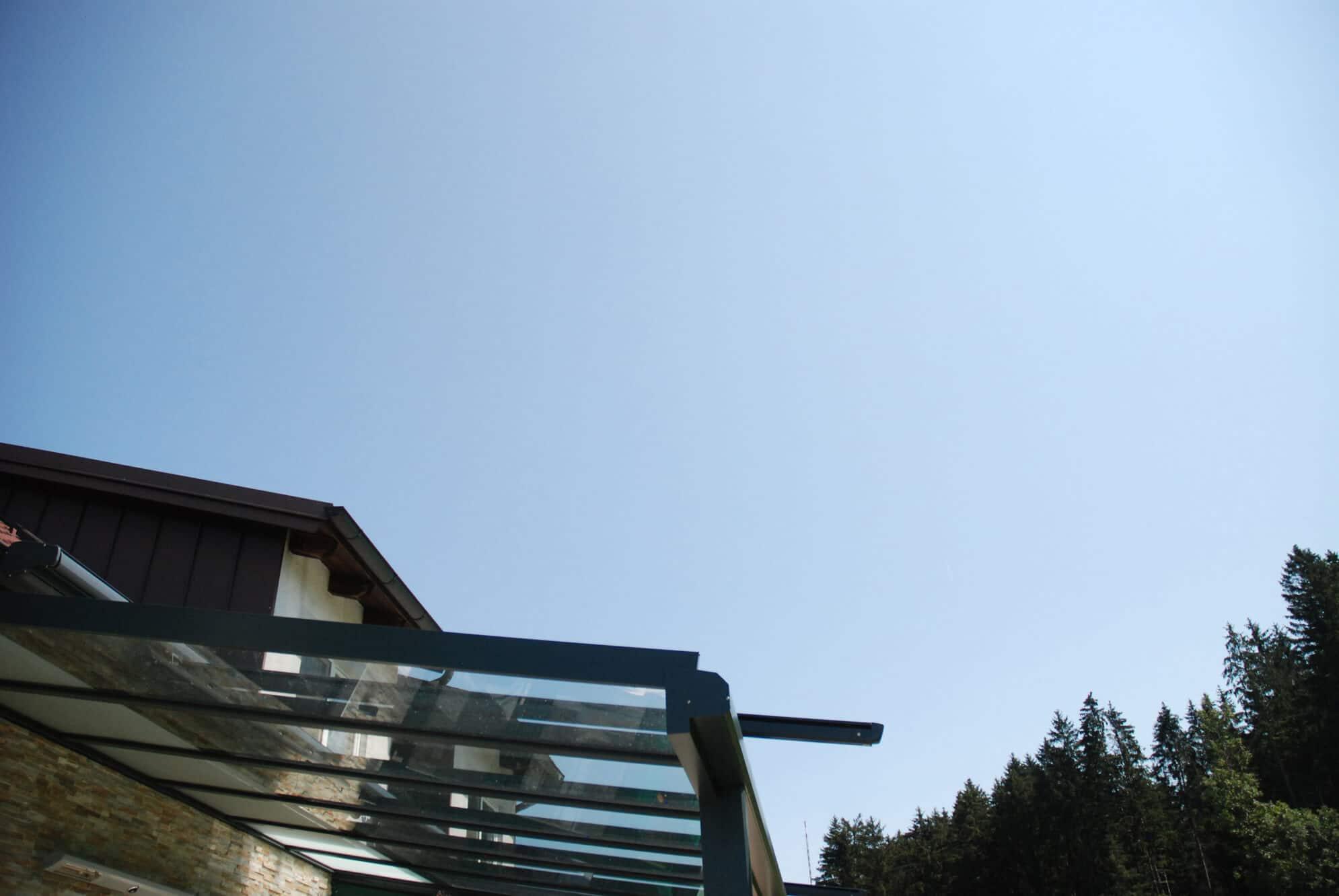 Aluminium Glas Überdachung in Oberösterreich