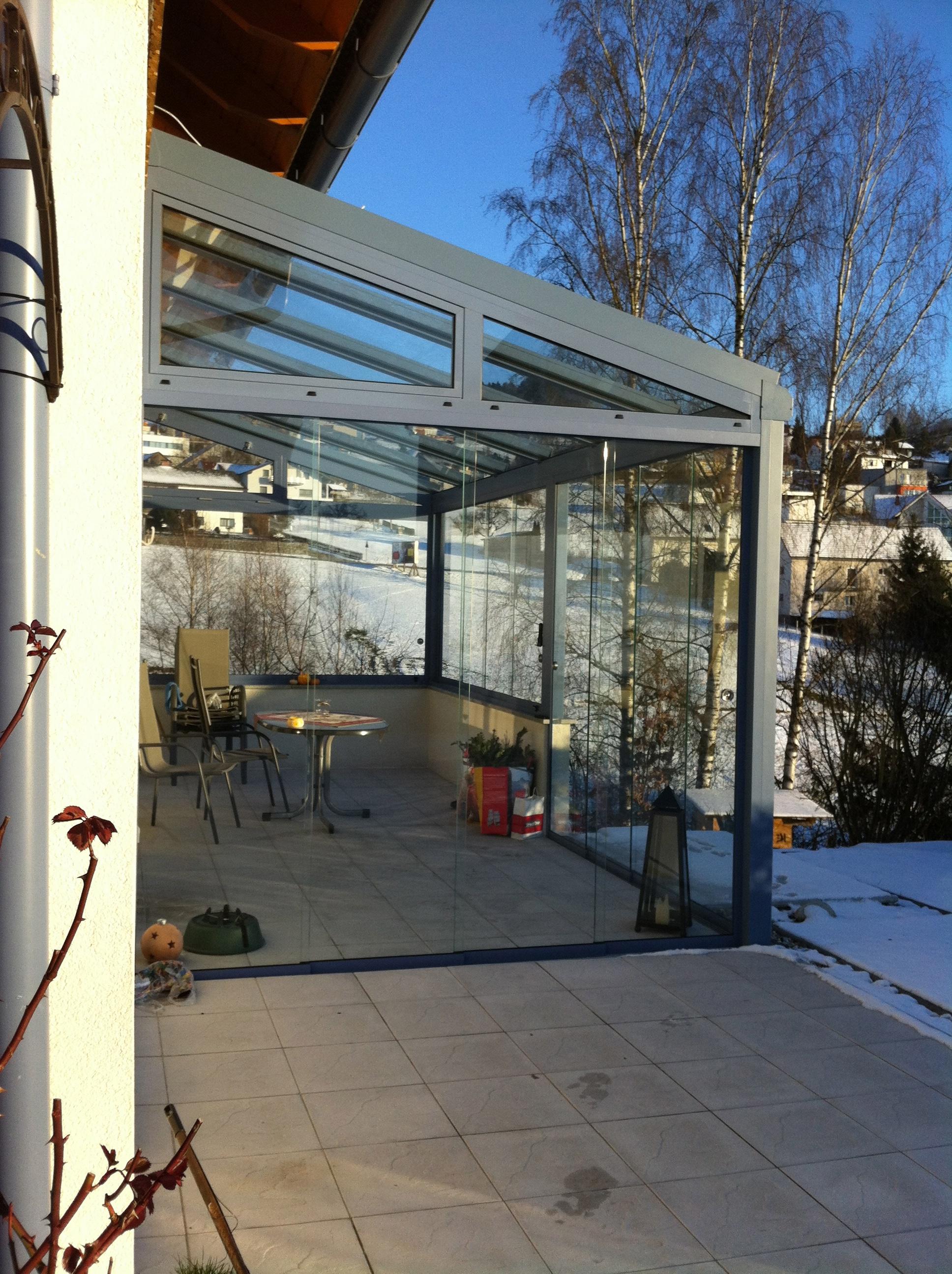 Aluminium Sommergarten mit Sicherheitsglas