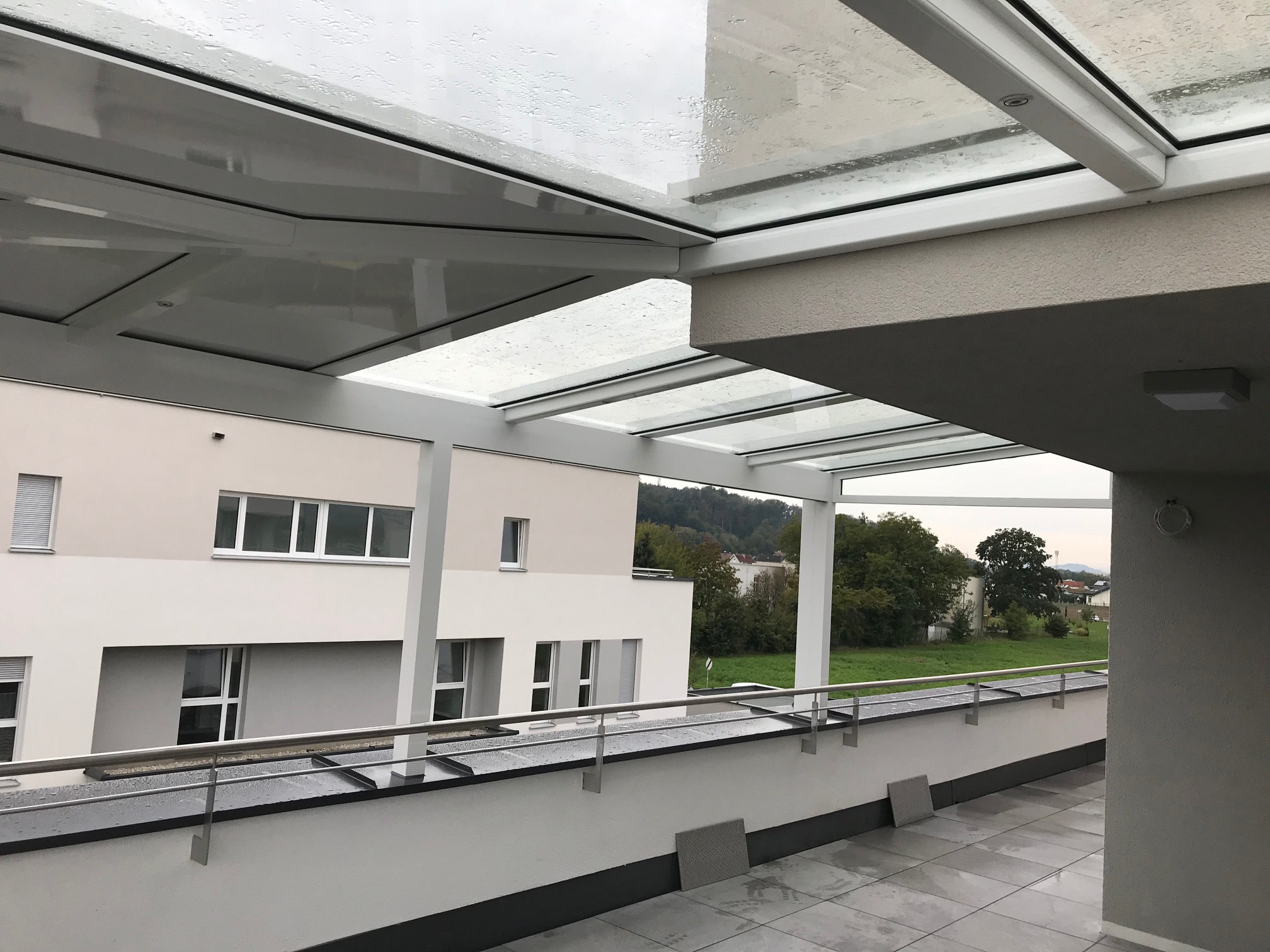 Aluminium Terrassenüberdachung für Penthouse in Linz