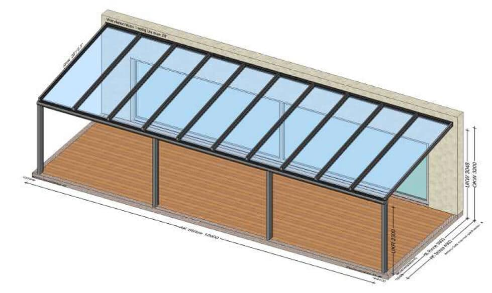 Aluminium Terrassenüberdachungen nach Maß - Planung