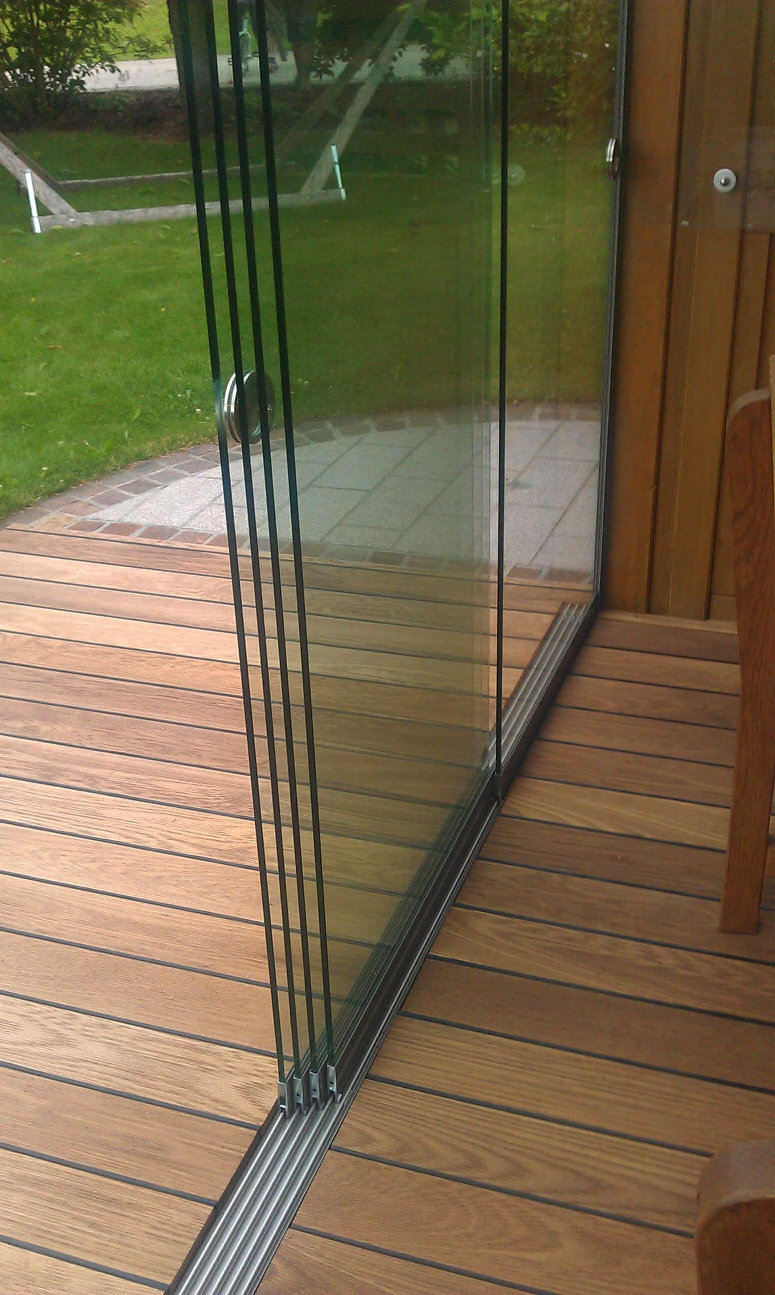 Anwendungsbeispiel Sunflex Glasschiebetüren
