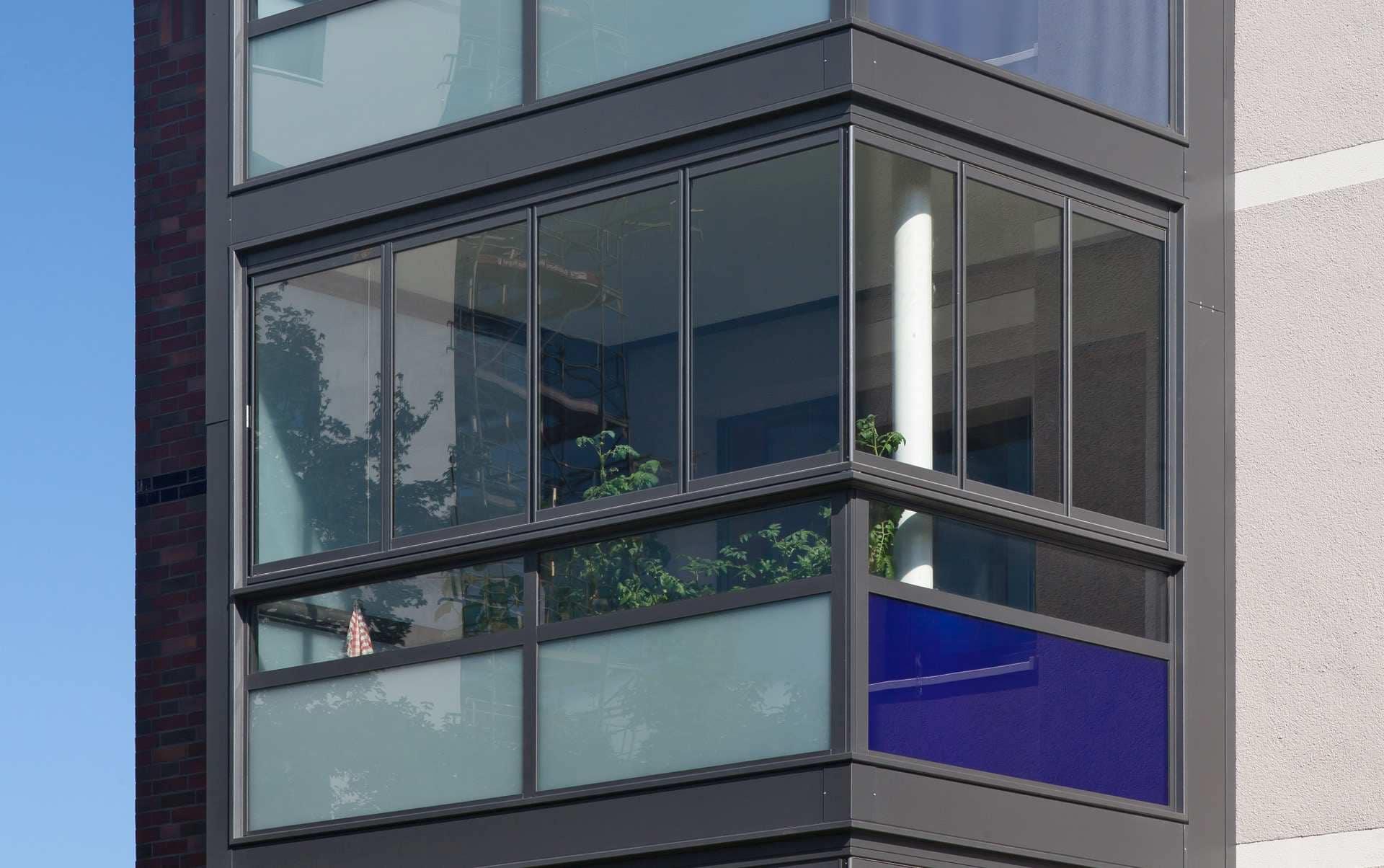 Balkon Gläser zum komplett Öffnen