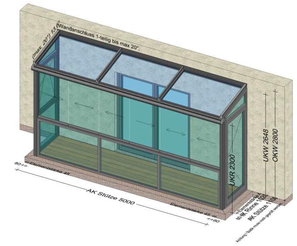 Balkon-Sommergarten mit Gehtüre in den Garten - Planung