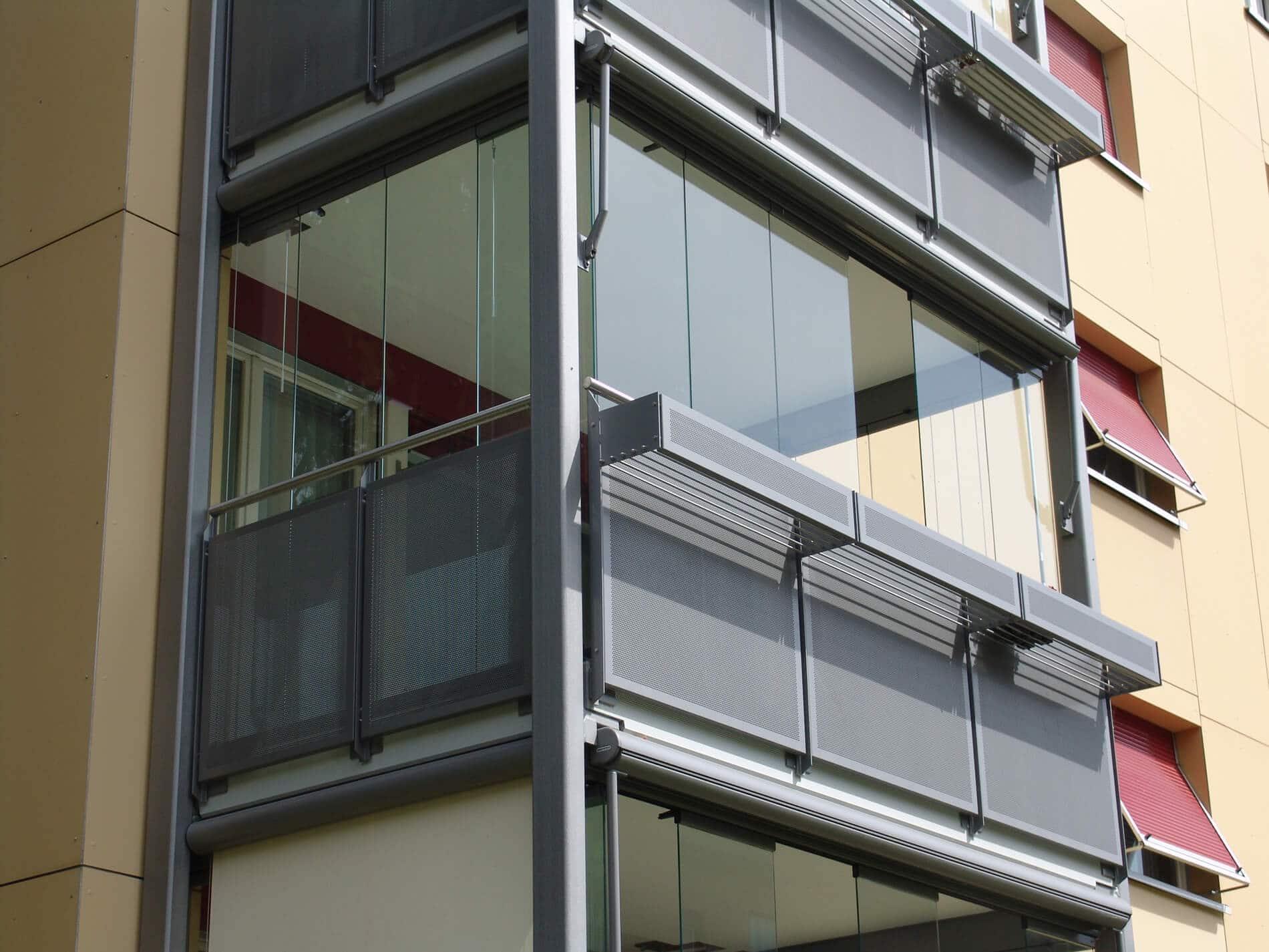 Balkon Wintergarten mit Glas