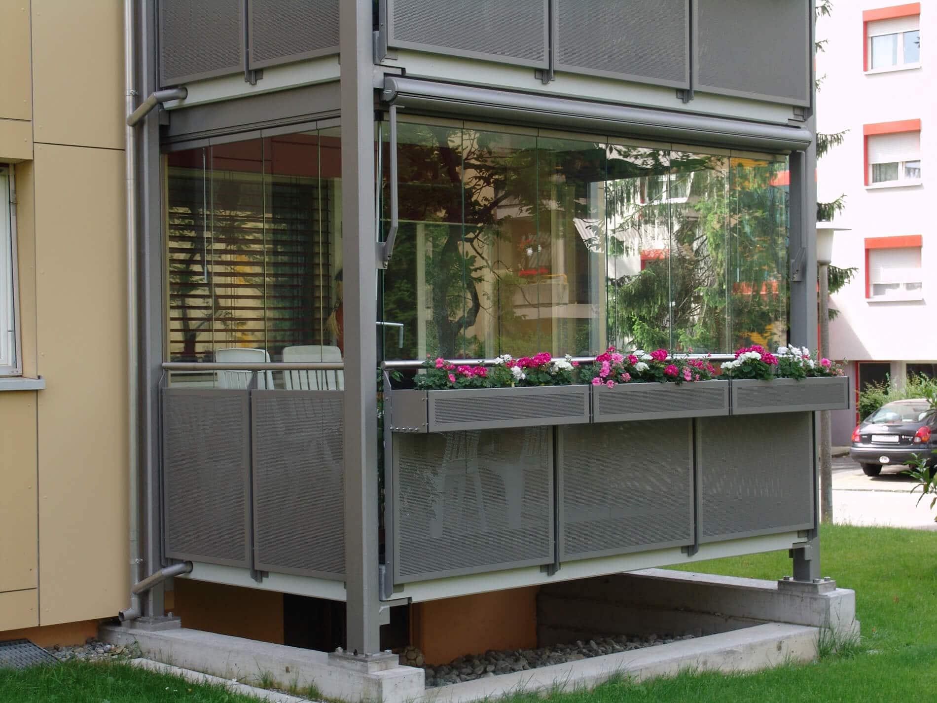 Balkon Wintergarten rahmenlos