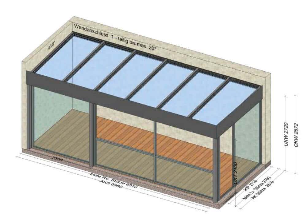 Balkonüberdachung für Terrasse