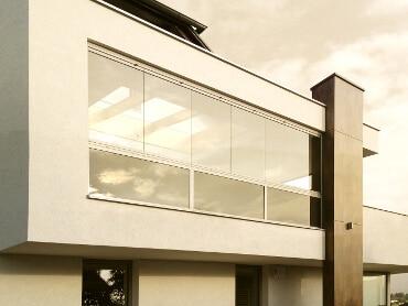 Balkonverglasung Sunflex faltbar