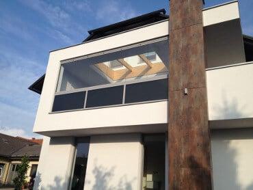 Balkonverglasung Faltfenster