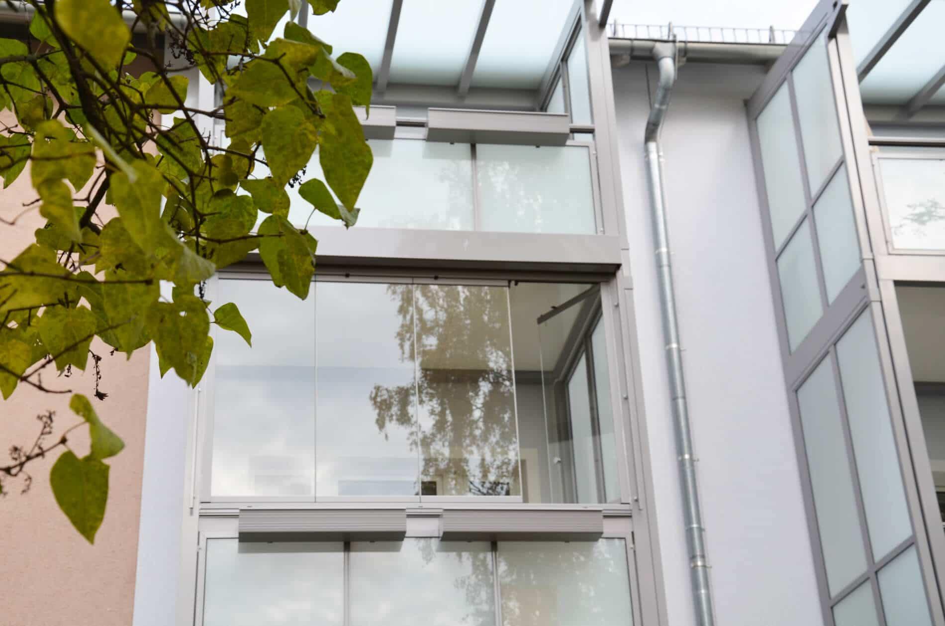 Balkonverglasung Faltwand