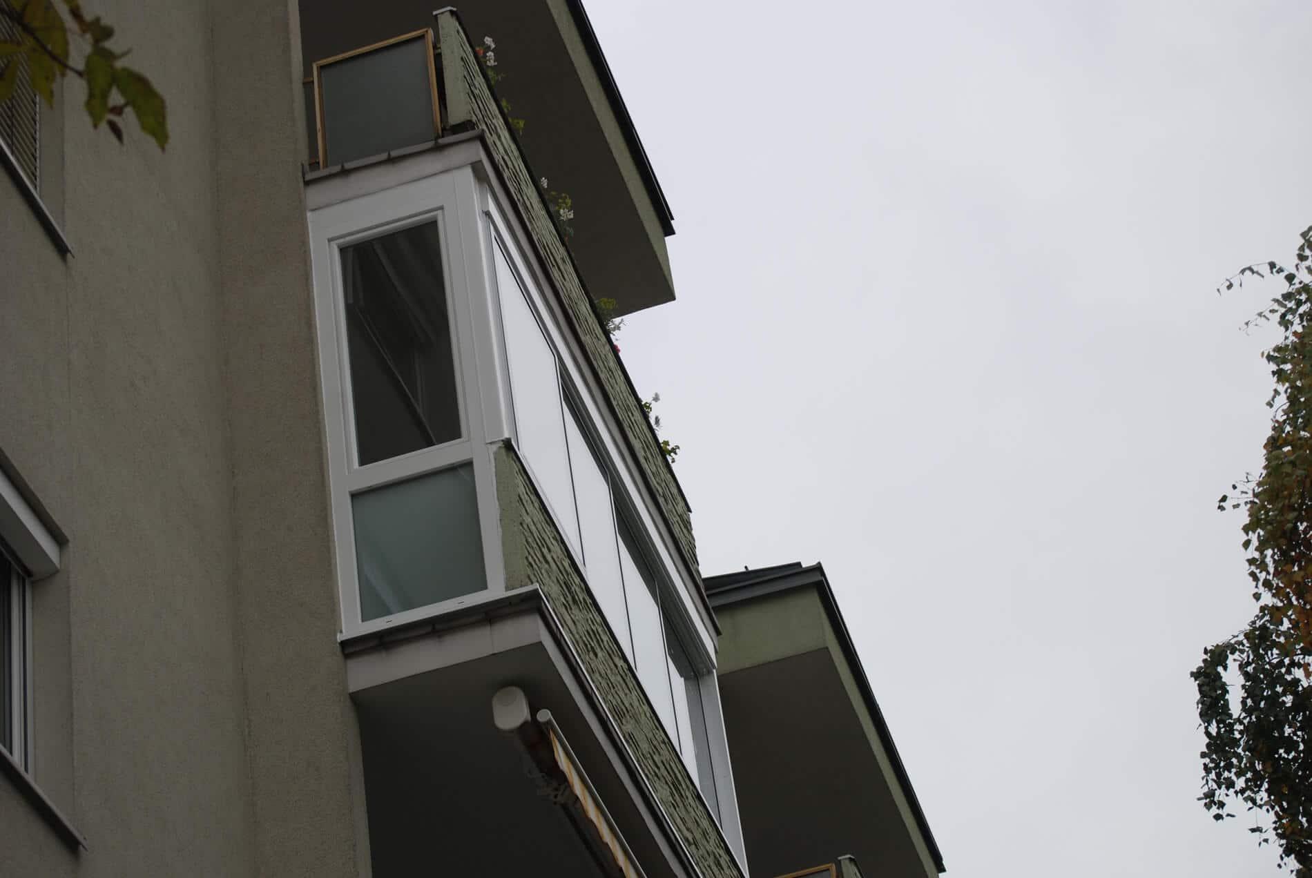 Balkonverglasung für Wohnung