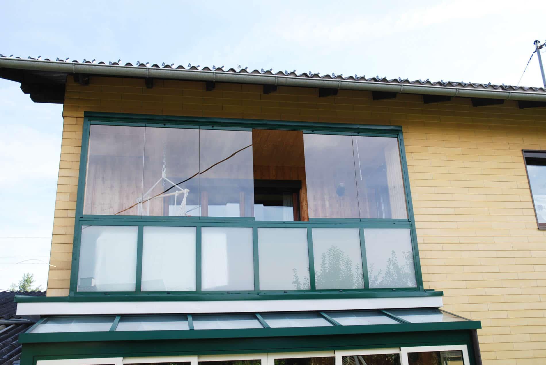 Balkonverglasung Schiebe-Dreh-System