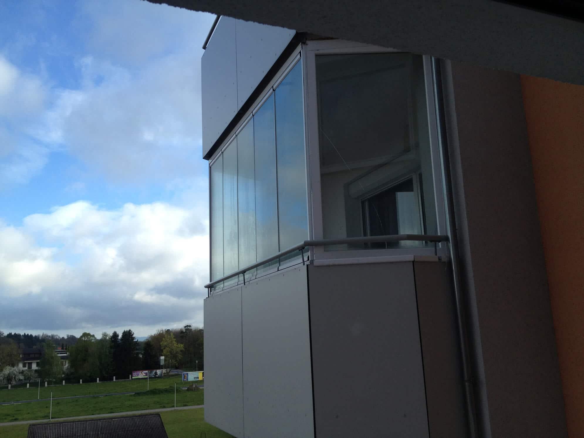 Balkonverglasung Sunflex Falt