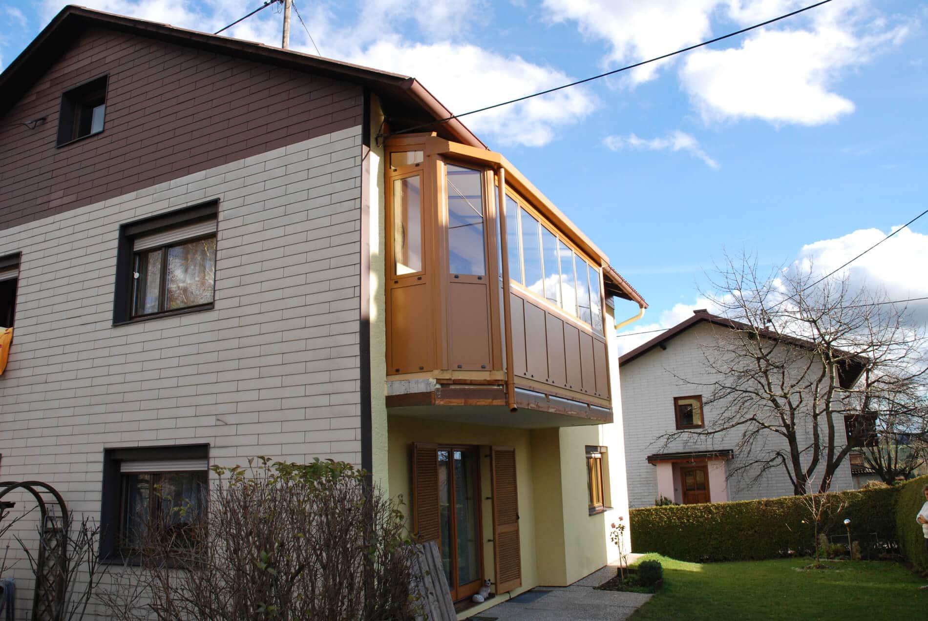 Balkonverglasung Sunflex für Einfamilienhaus