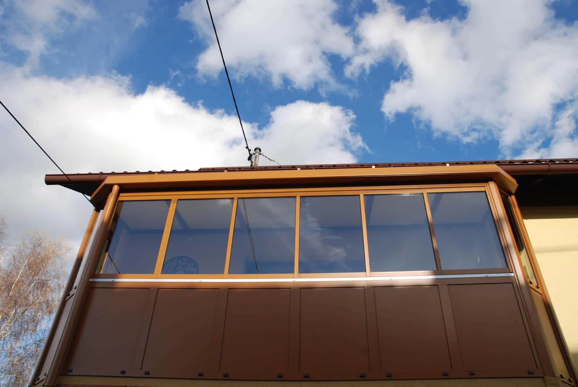 Balkonverglasung Sunflex SF 35