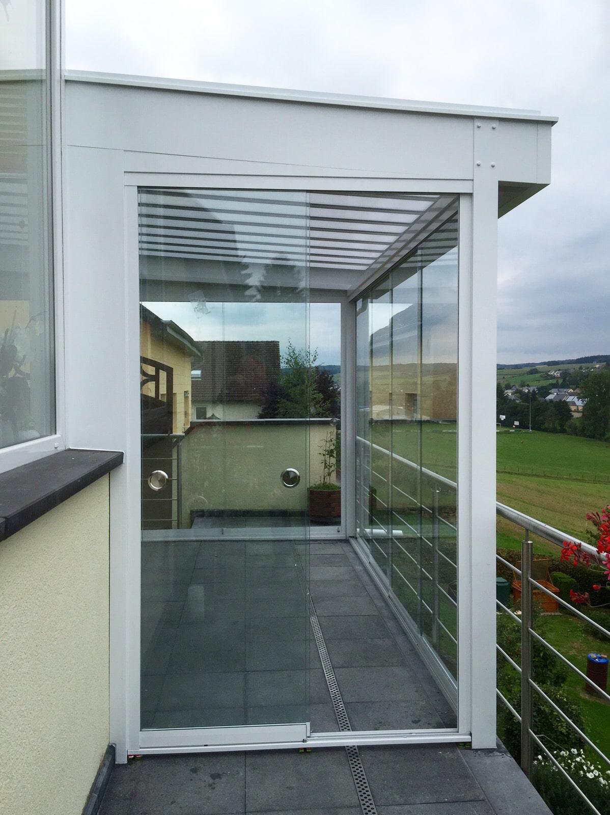 Balkonverglasung Wintergarten Schiebesystem