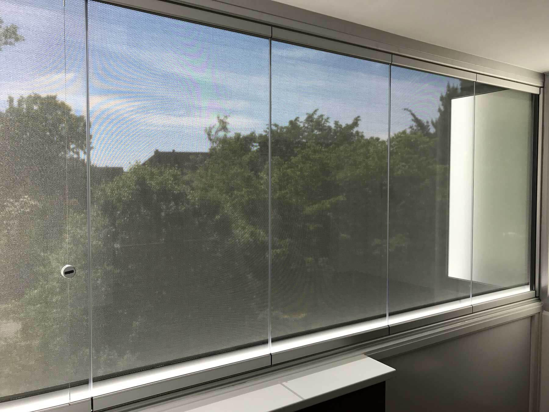 Balkonverglasungen Faltwände