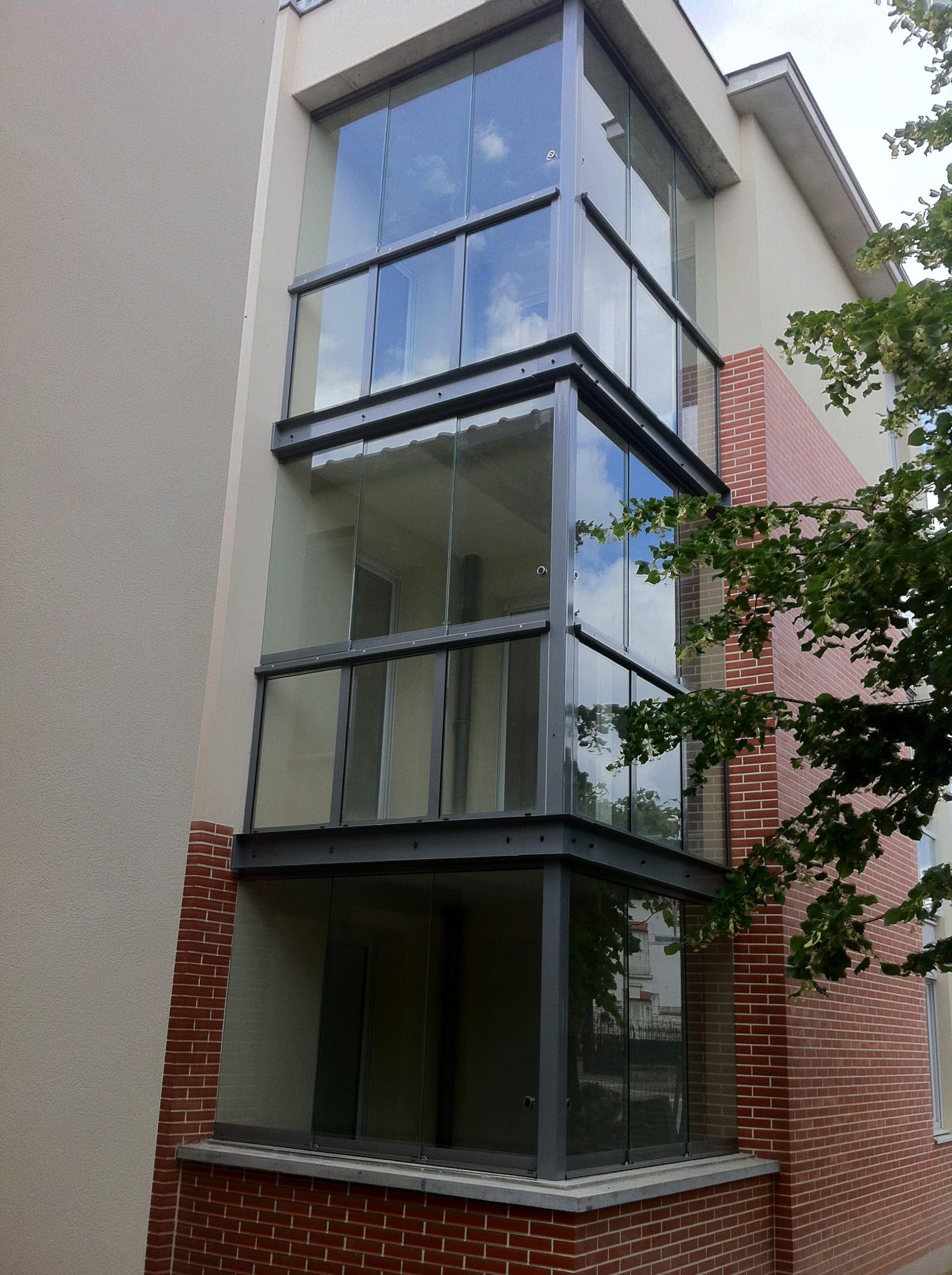 Balkonverglasungen Glas