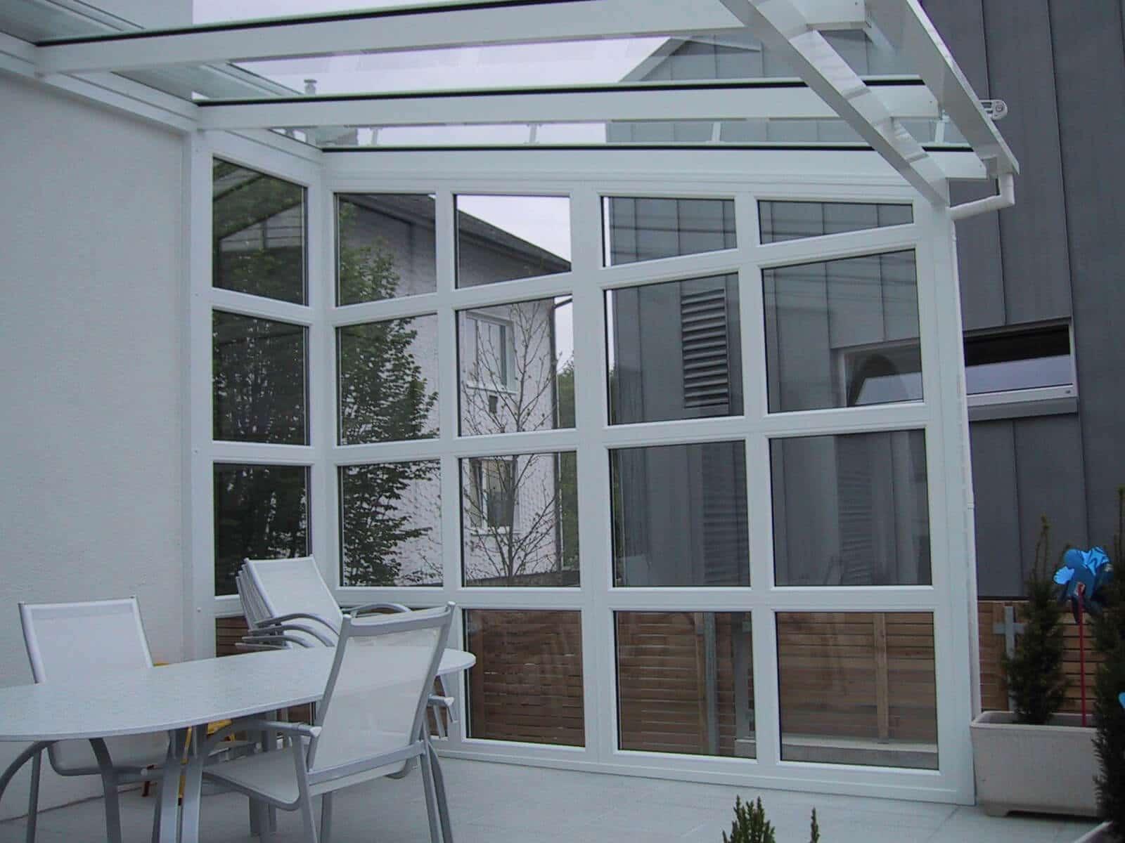 Beispiel für Seitenteil Terrassenüberdachung