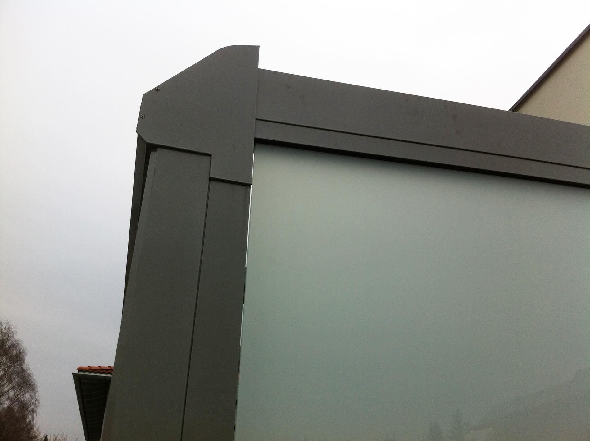 Detail Rinne Terrassenüberdachung