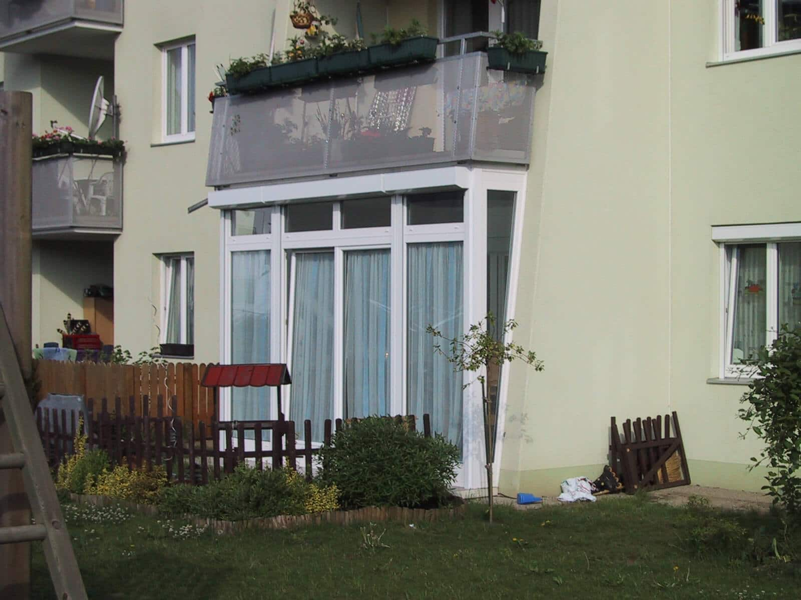 Ebenerdige Verglasung Terrasse