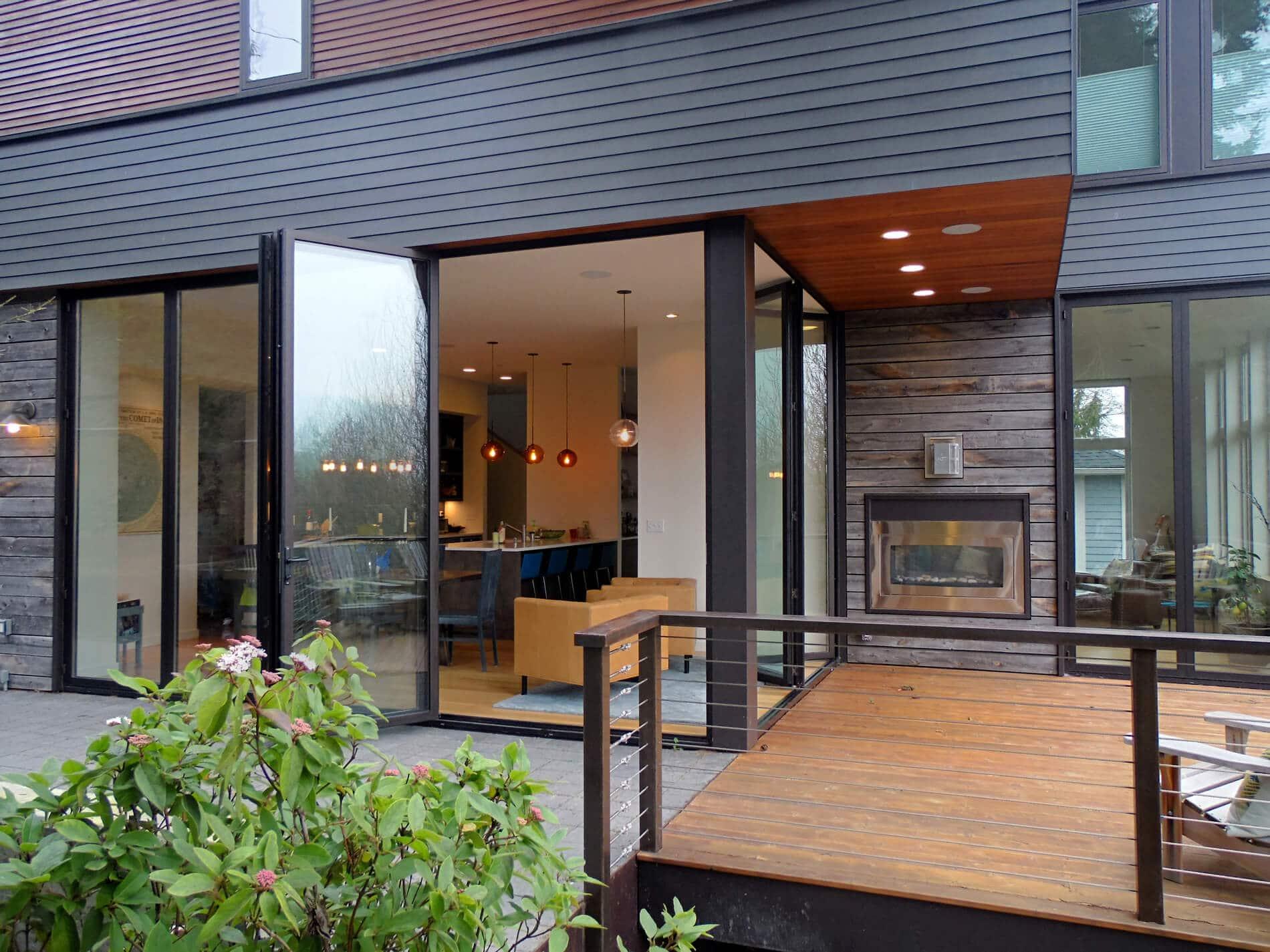 Einfamilienhaus mit Aluminium Faltwandsystem von Sunflex