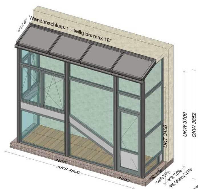 Eingangsverbau vom Wintergartenanbieter