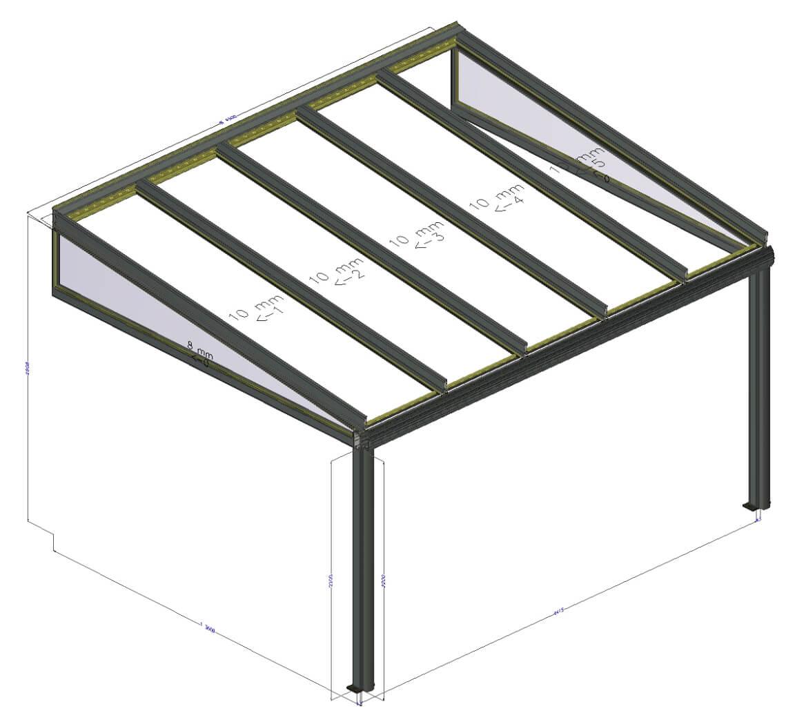 Entwurf Terrassenüberdachung