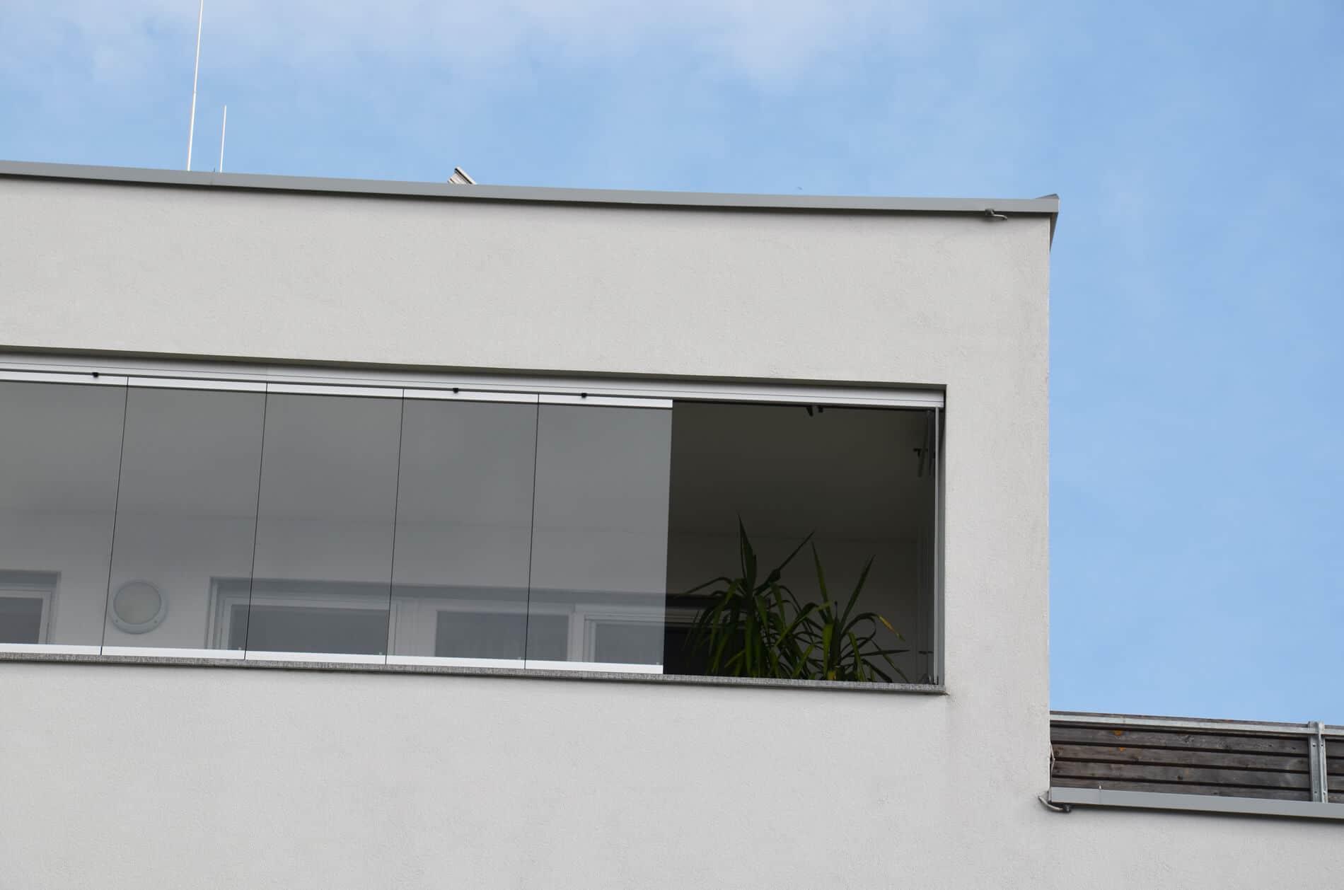 Faltschiebefenster aussen für Balkone
