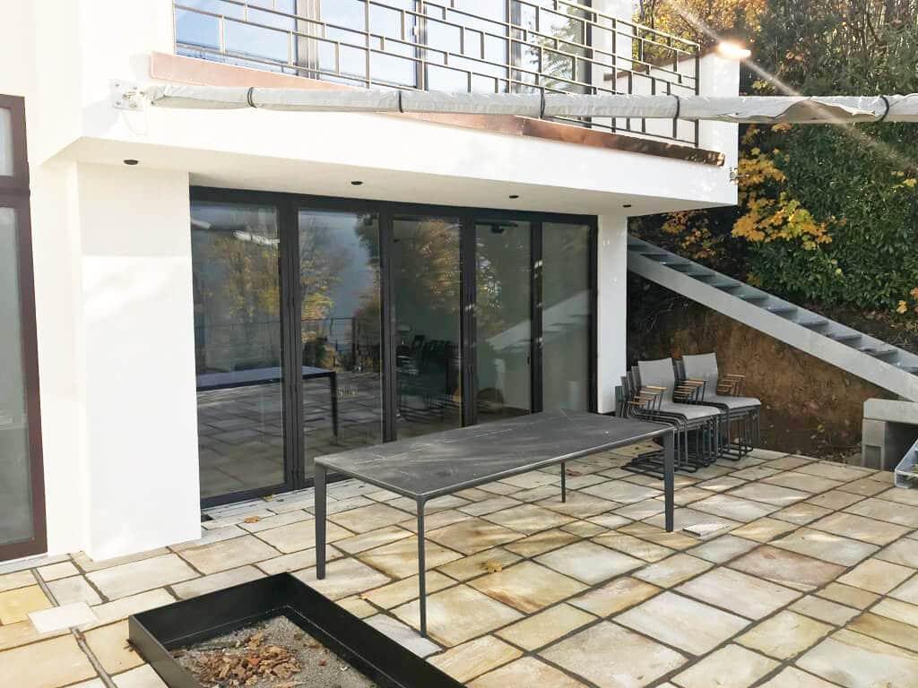 Faltschiebetüren mit Sicherheitsglas für Terrasse