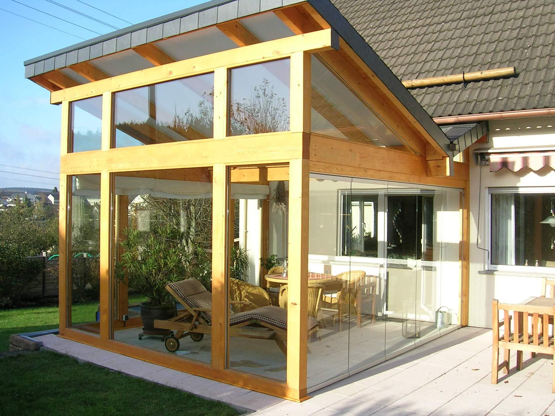 Falttüre Glas für Wintergarten