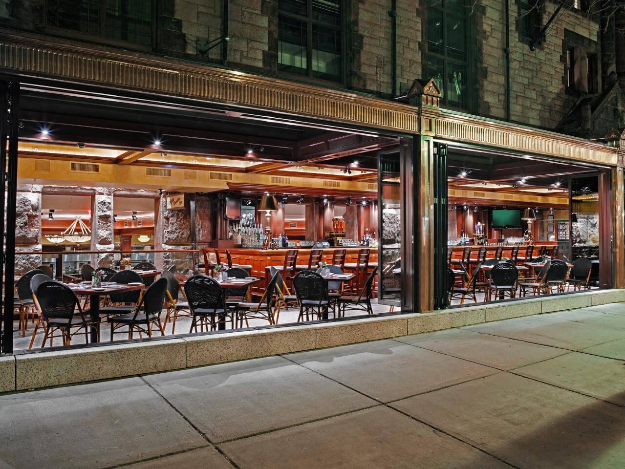 Falttüren Gastronomie Außenbereich