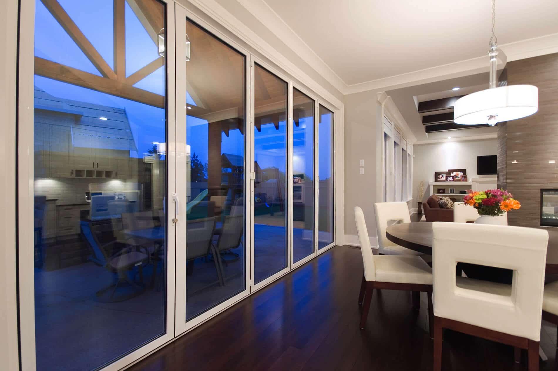 Falttüren Wohnzimmer Außenbereich