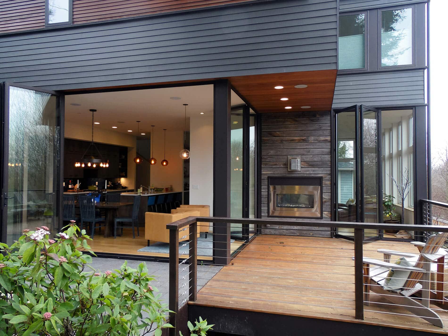 Faltwände Aluminium Glas für Einfamilienhäuser