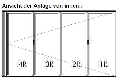 Faltwand 4-flügelig Sunflex SF 55 - thermisch getrennt