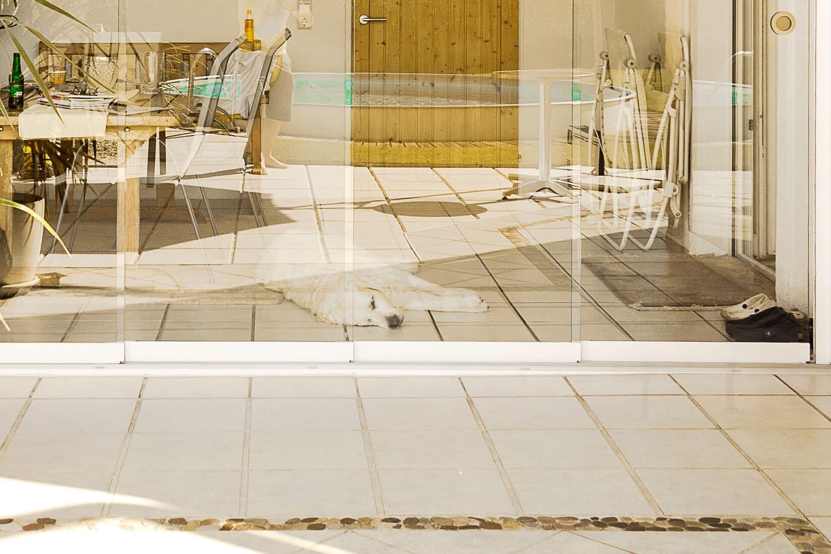 Ganzglas-Schiebe-Türen unten aufstehende Konstruktionen