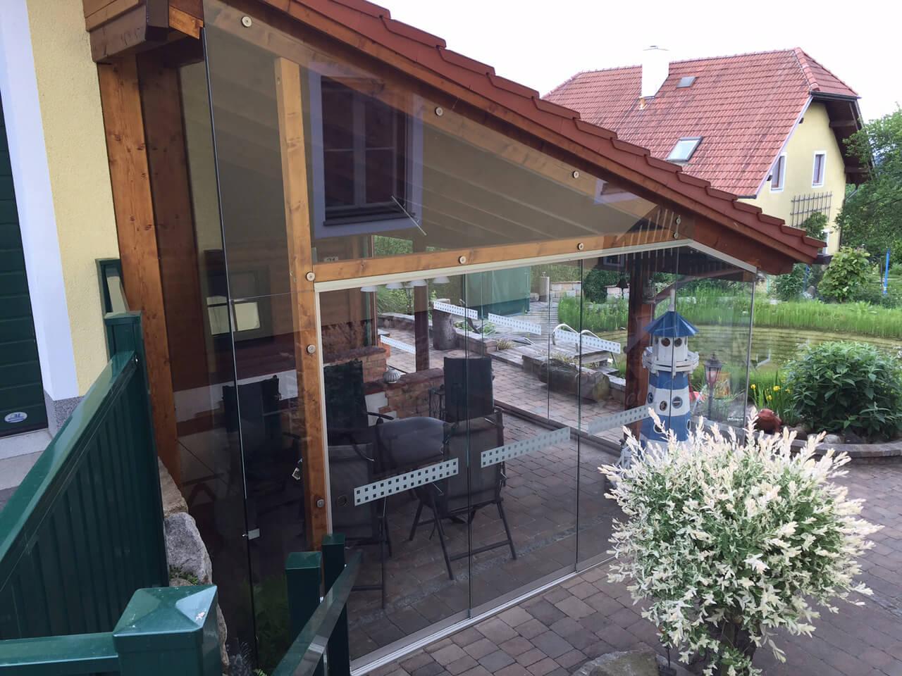 Ganzglas-Schiebesysteme für Außenbereich