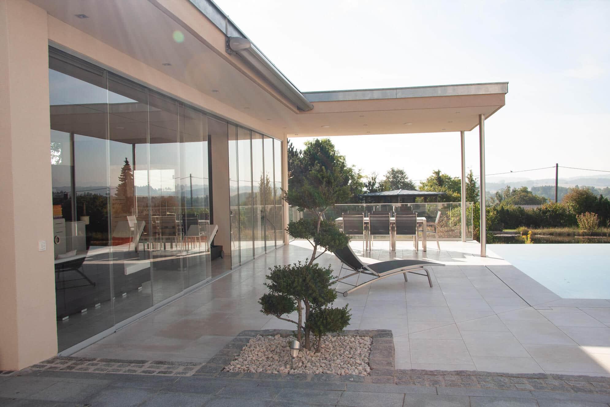 Ganzglassysteme Poolhaus