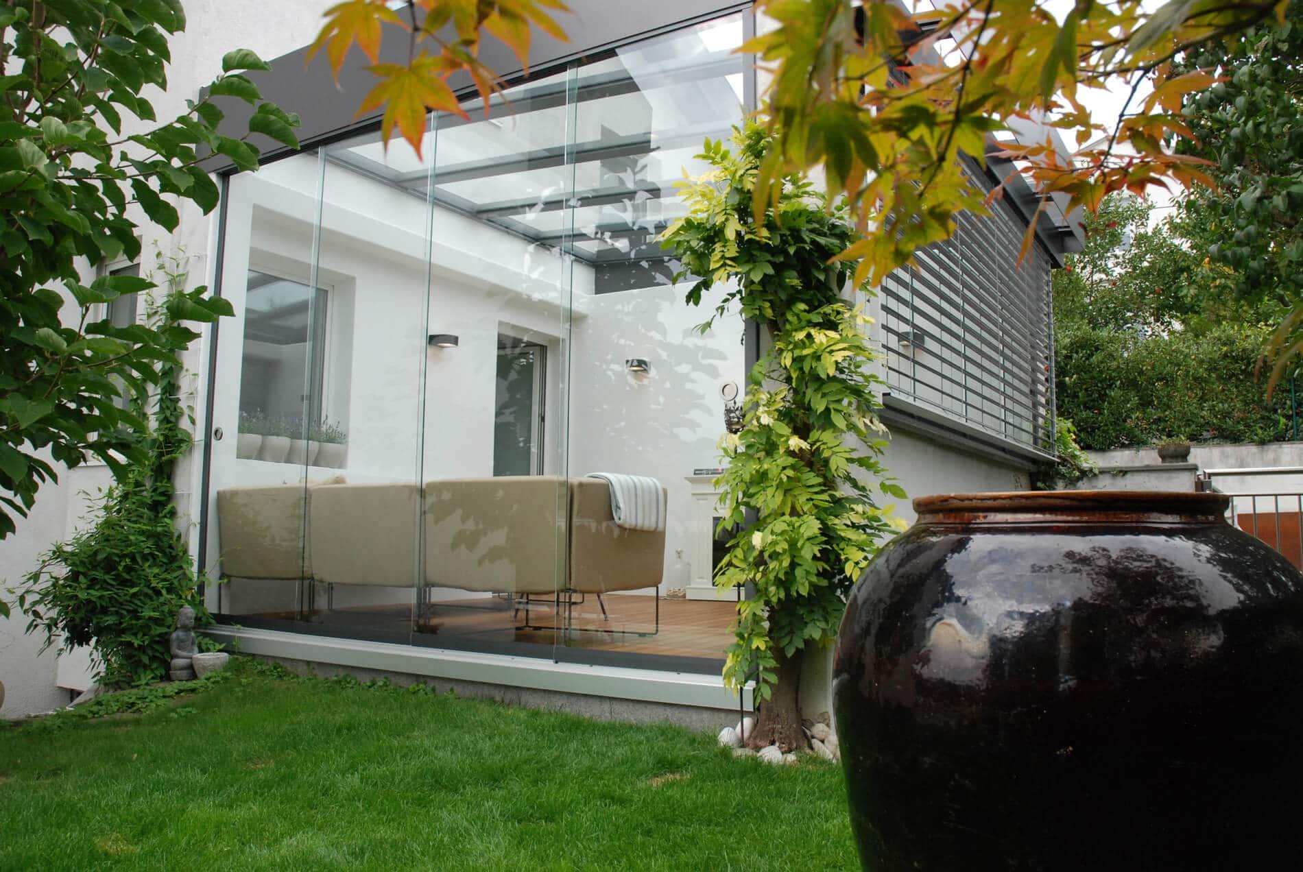 Ganzglastüren für Wintergarten