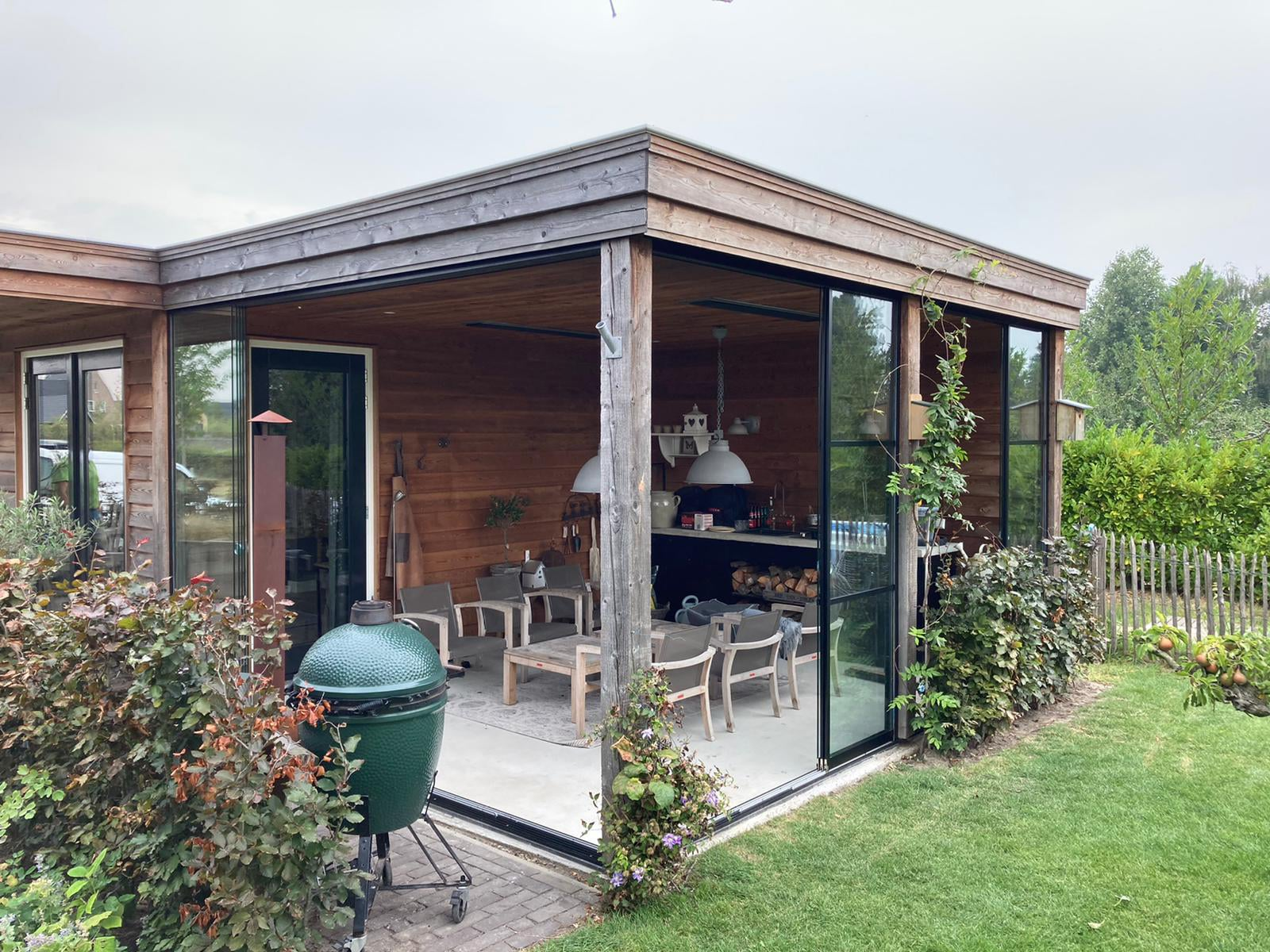 Gartenhaus Aluminium Schiebetür