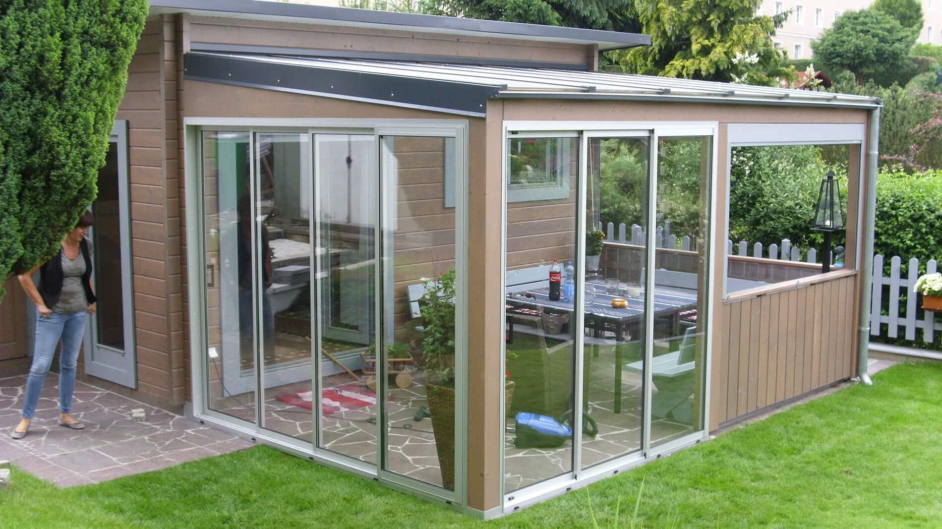 Gartenhaus mit viel Glas