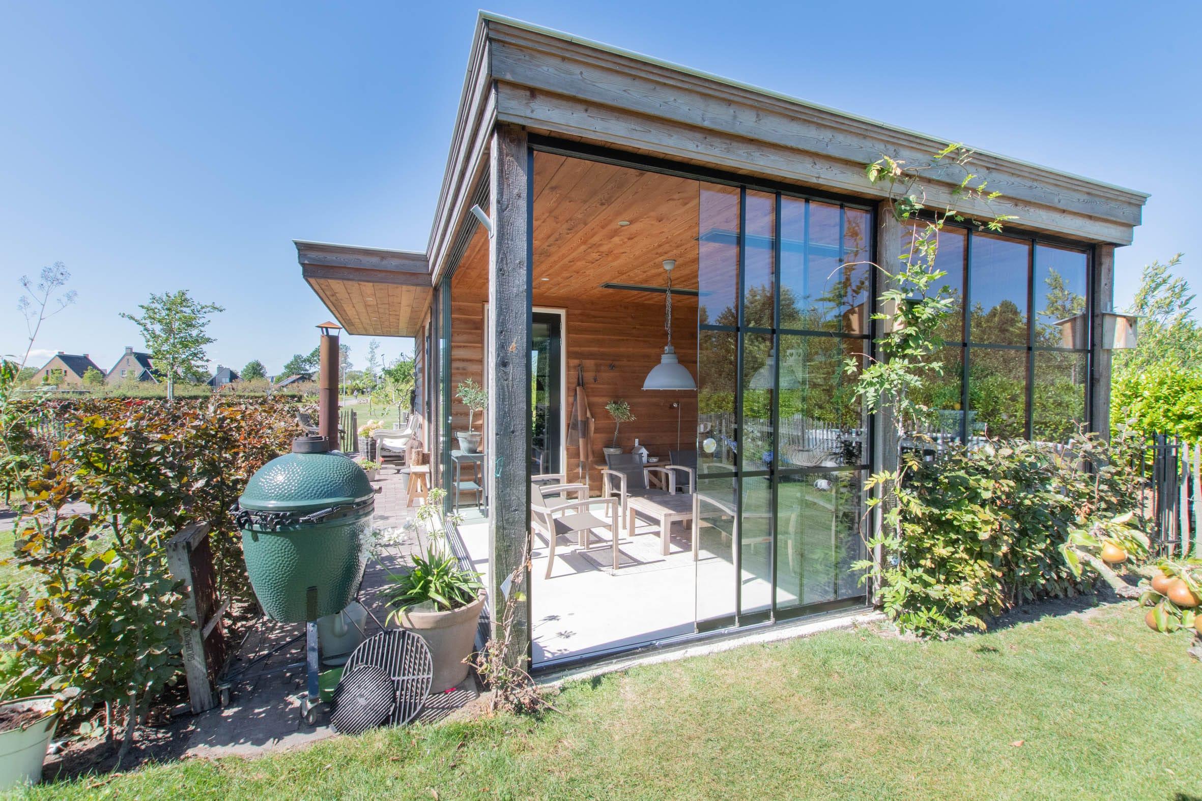 Gartenhaus Schiebefenster passgenau