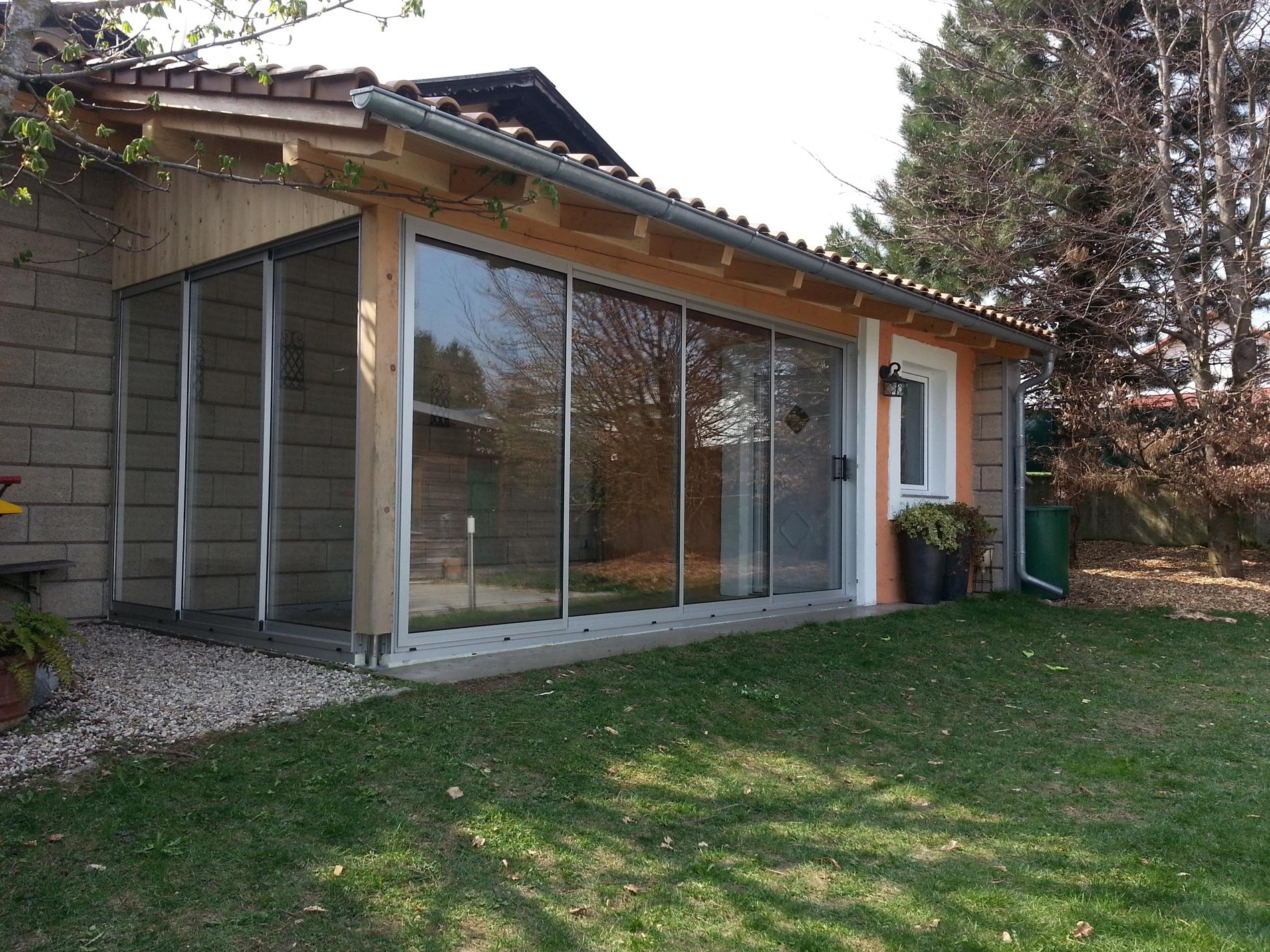Gartenhaus Schiebetür Alu