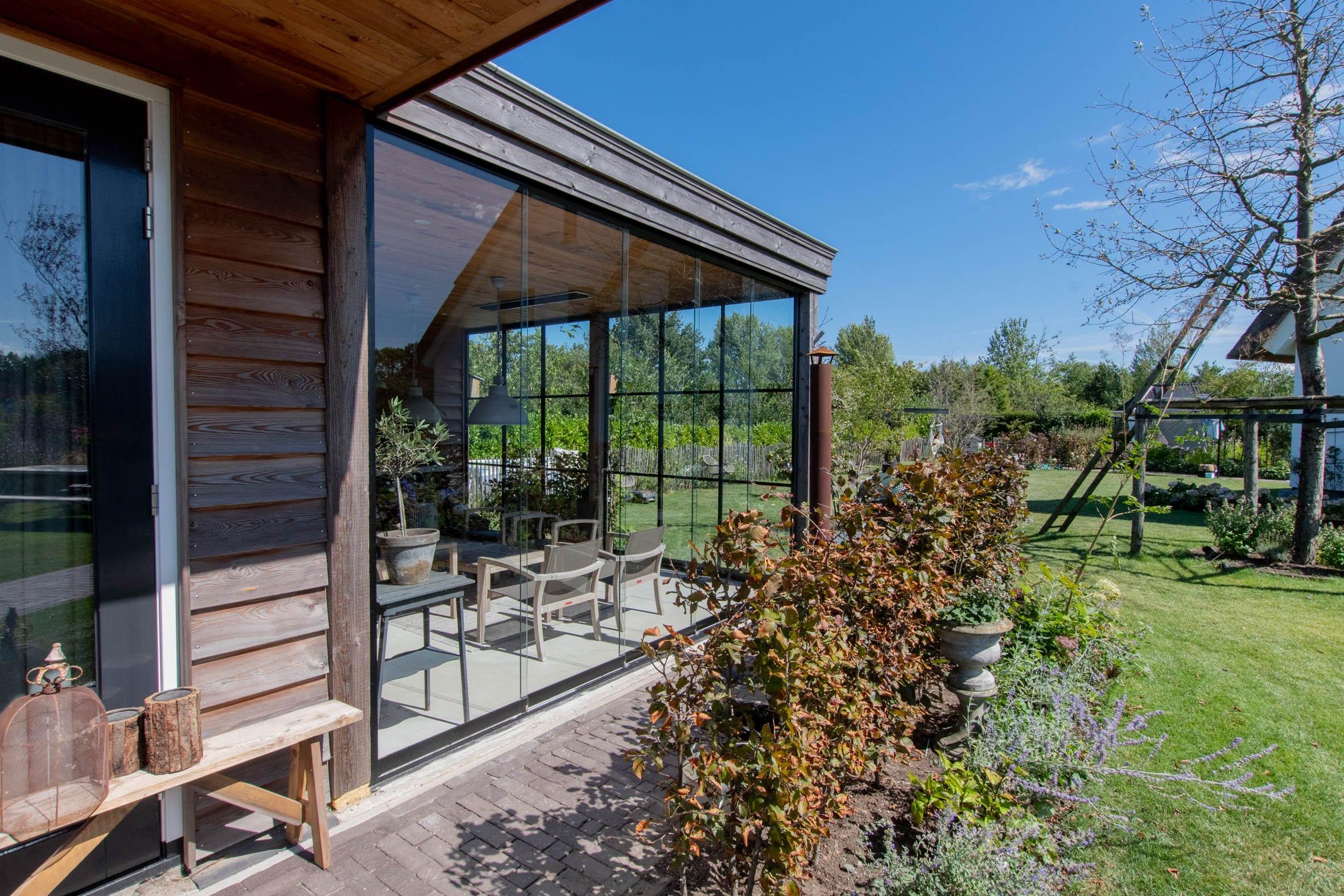 Gartenhaus Türen zum Schieben