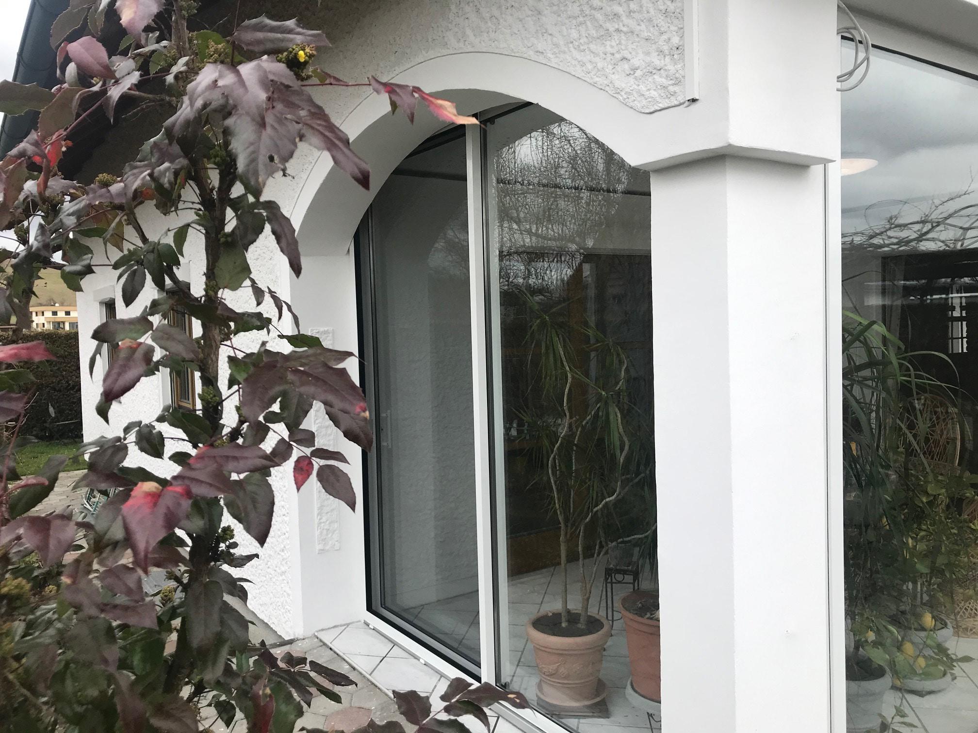 Gerahmte Schiebetür Terrasse